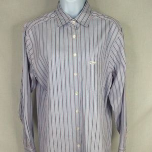 Faconnable Stripe Button Front Shirt Long Sleeve
